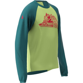Zimtstern PureFlowz LS Shirt Men pacific green/sharp green/cyber red